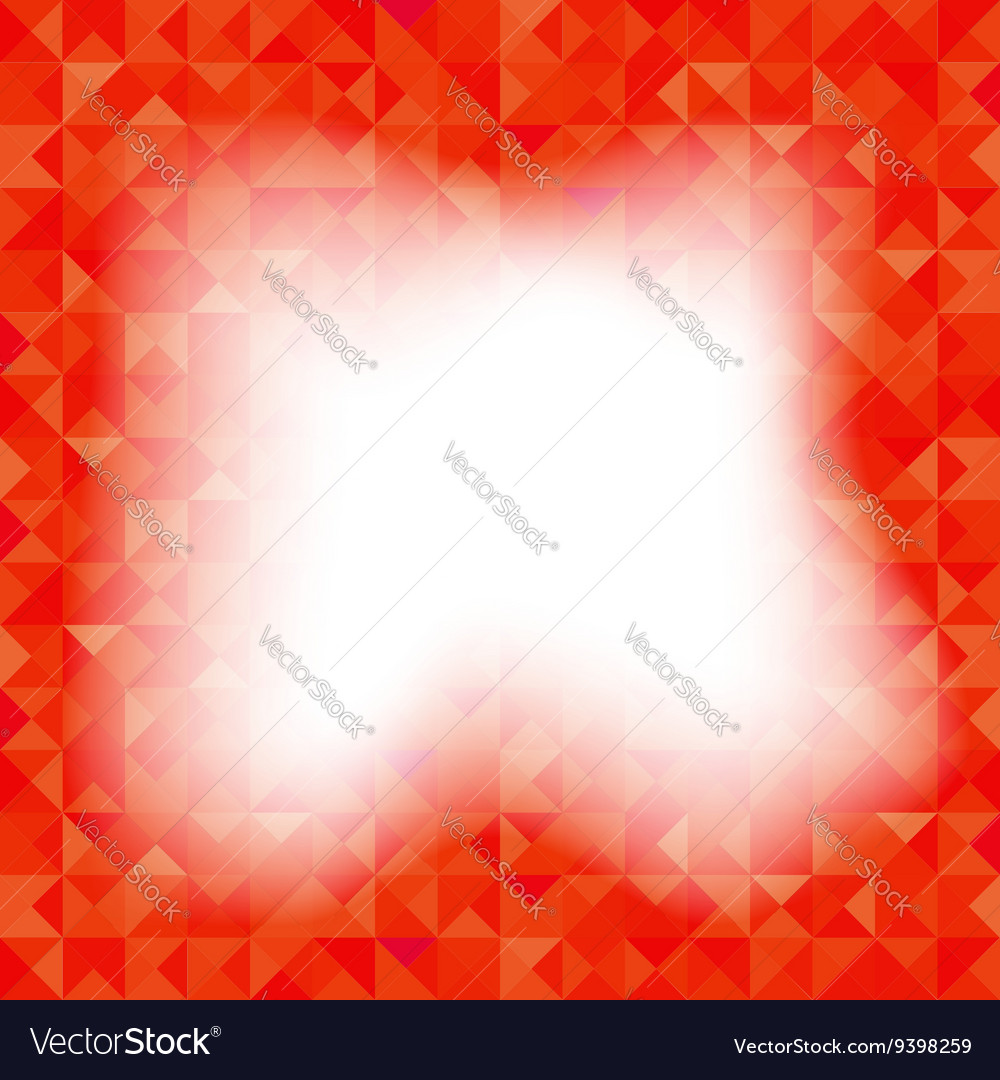 Red Background Geometric Triangles Old Mosaic vector image