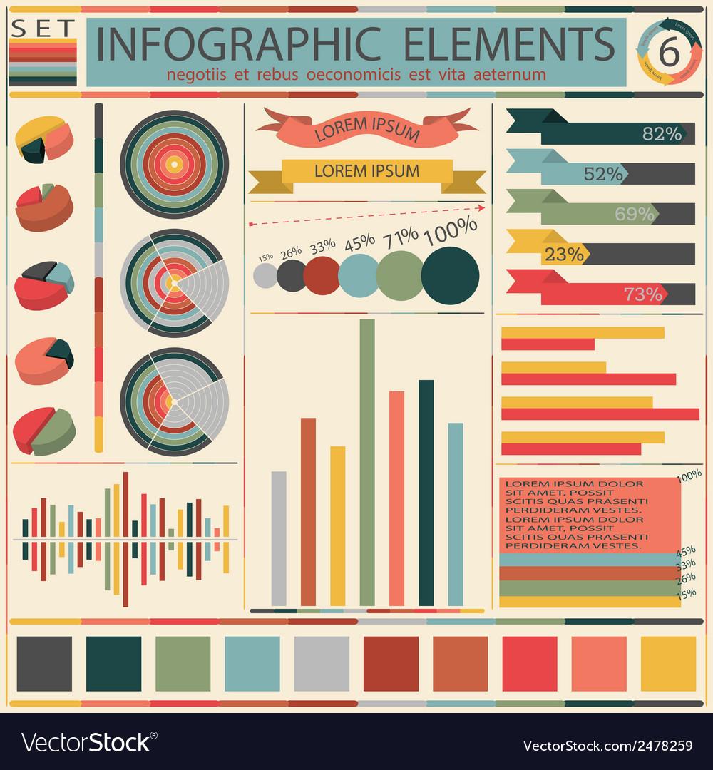 Set elements of retro infographics