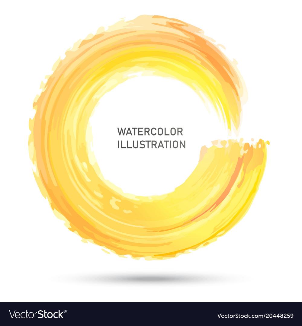 Watercolor color circle texture ink round stroke