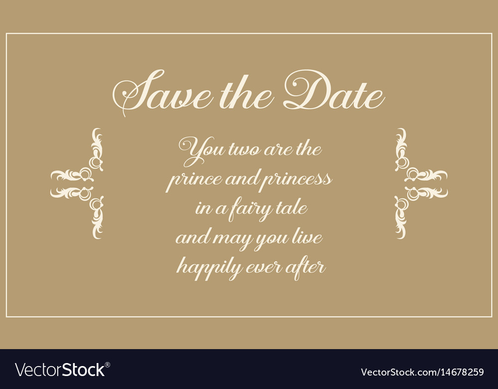 Wedding Invitation Greeting Card Style Royalty Free Vector