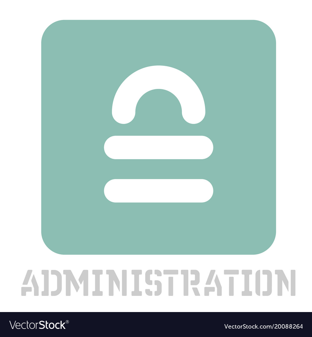 Administration conceptual graphic icon