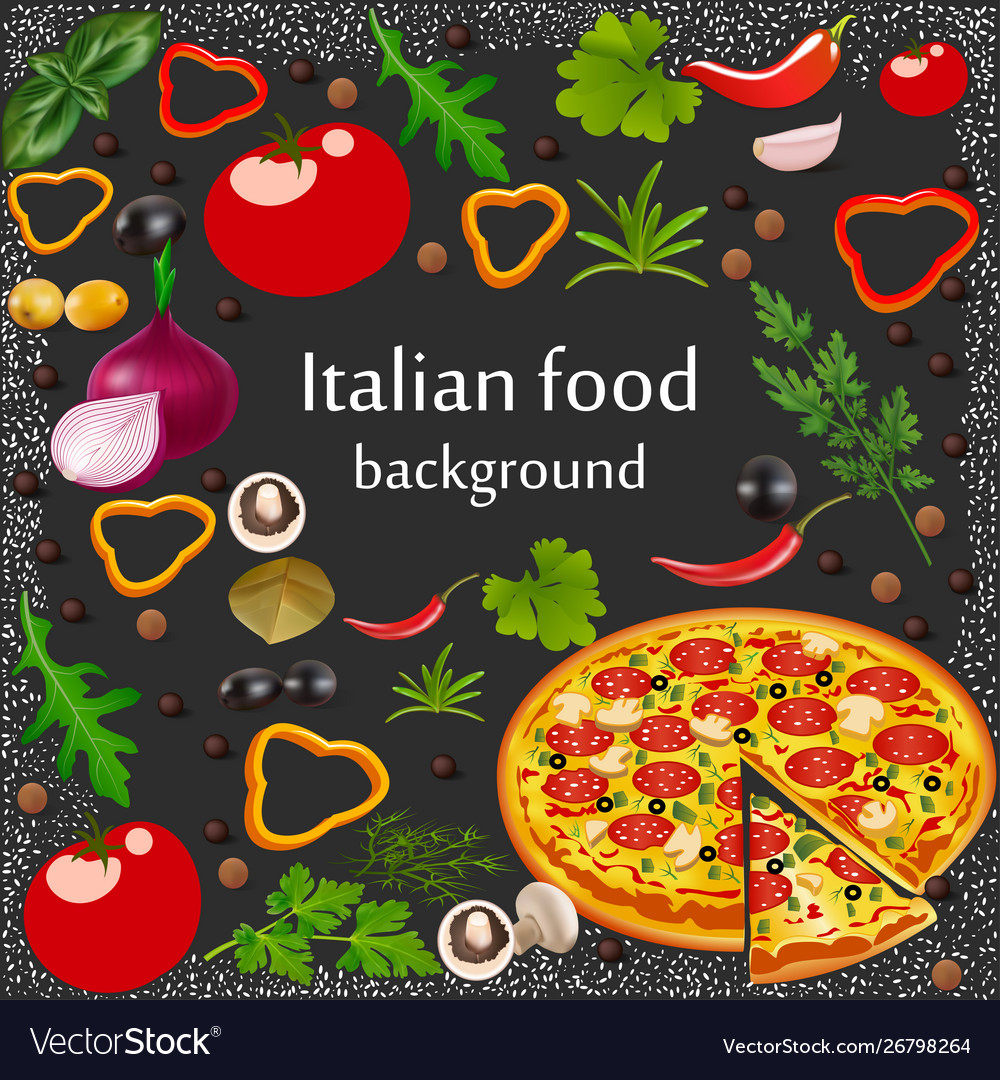 Background for a menu italian food with