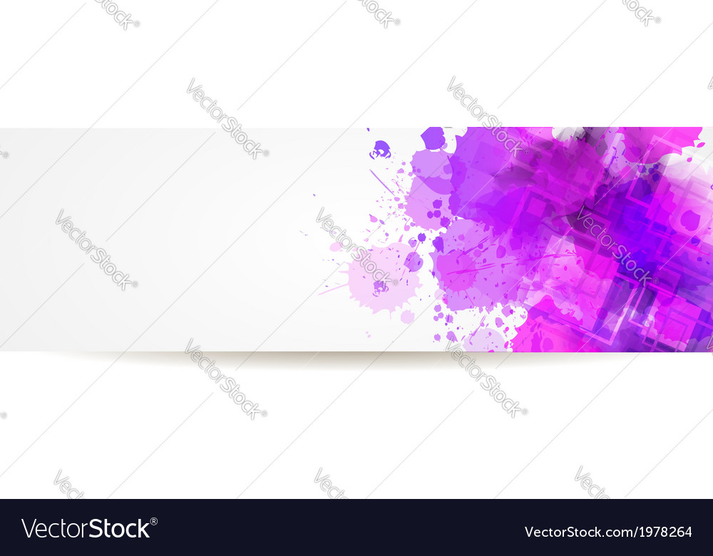 Banner watercolor squares vector image