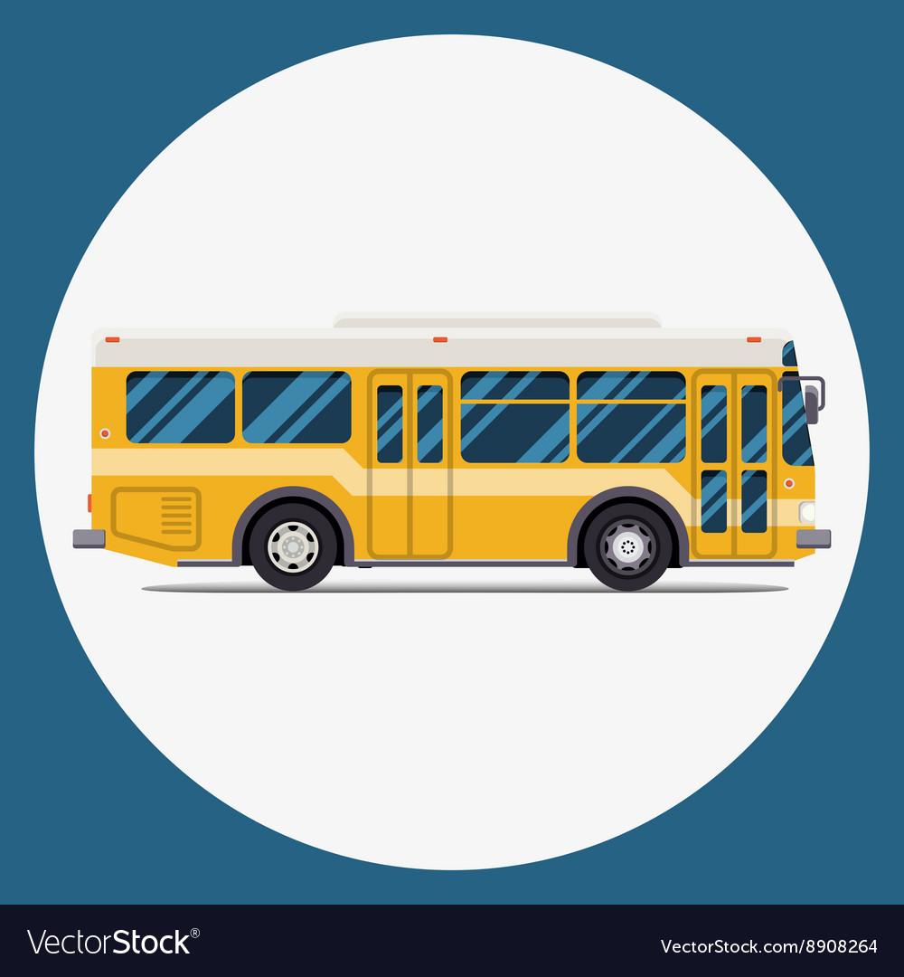 Bus icon flat design city transportation