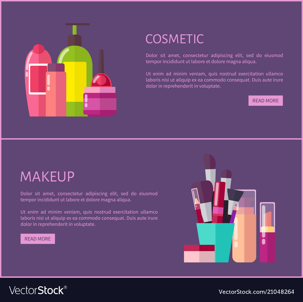 Makeup Pages Set Royalty Free Vector Image