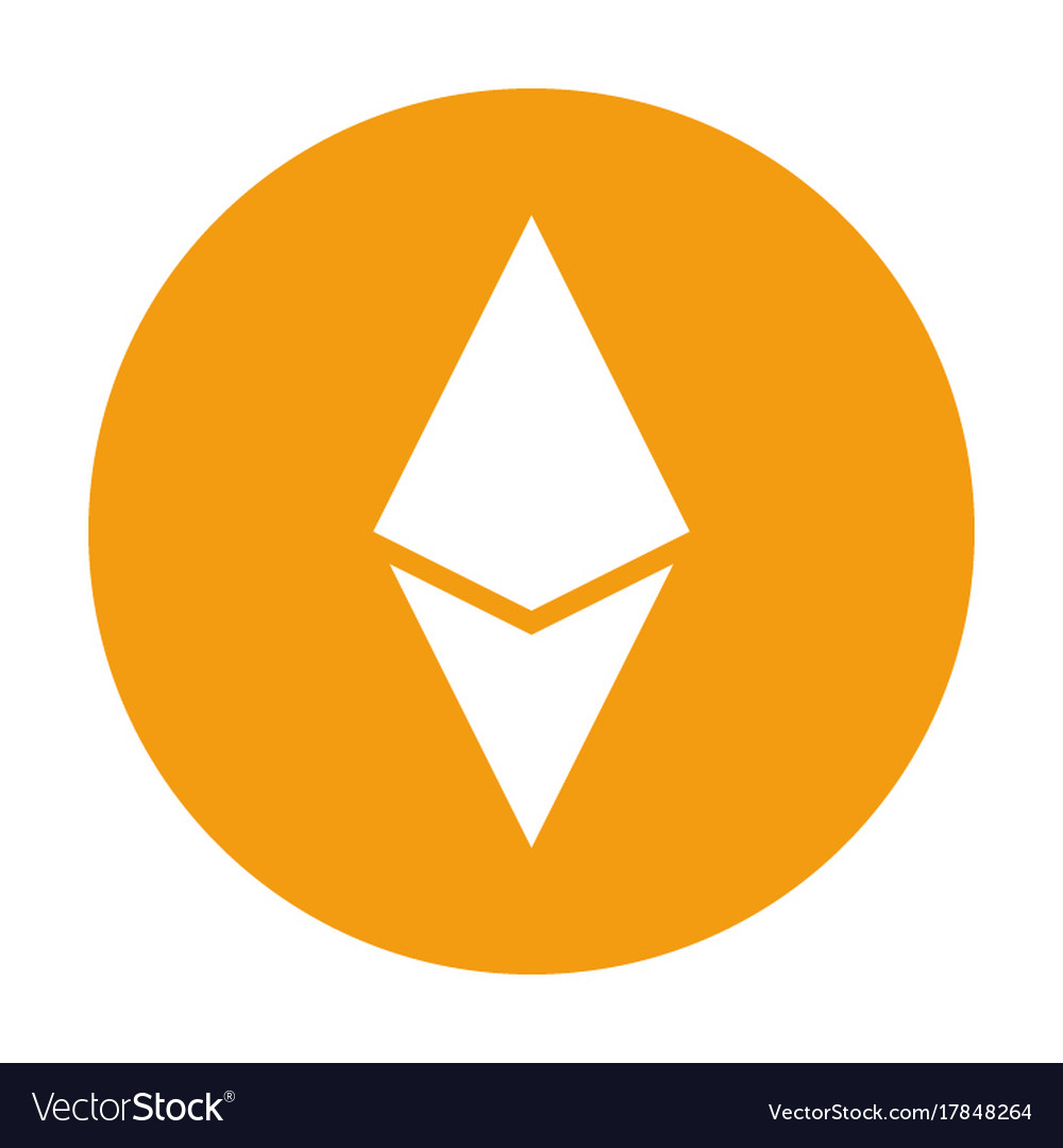 Ethereum icon for internet money crypto currency