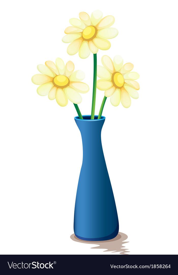 Flowers inside a vase vector image  sc 1 st  VectorStock & Flowers inside a vase Royalty Free Vector Image