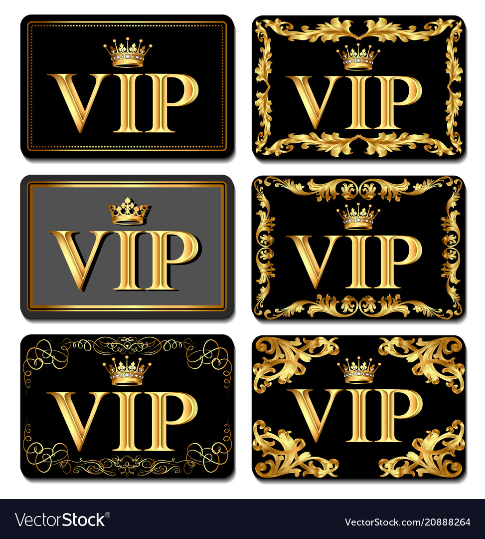 On the design of vip business cards gold with