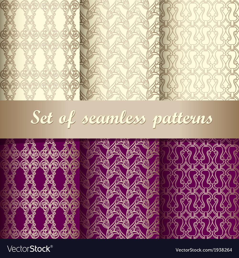 Set of seamless pattern 5 vector image