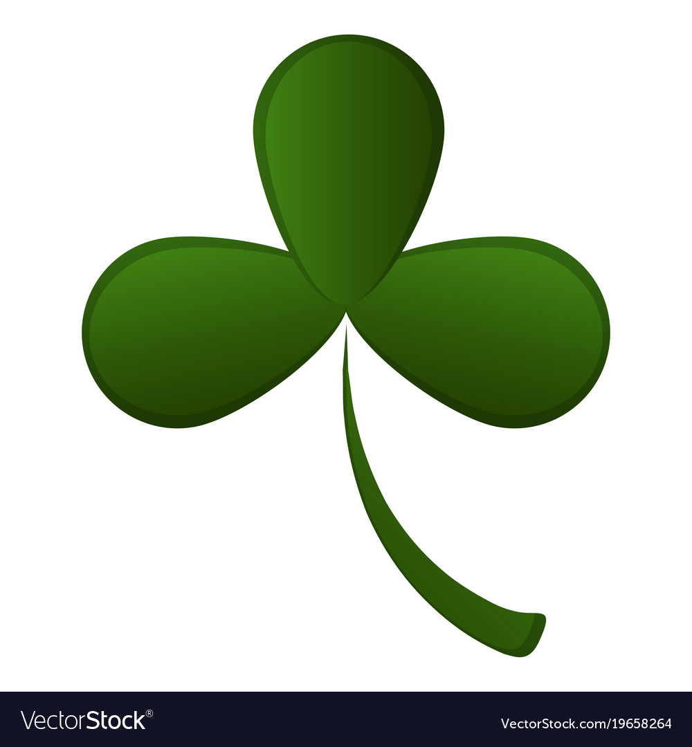 Three Leaf Clover Royalty Free Vector Image Vectorstock