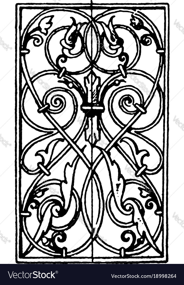 Wrought-iron oblong panel is german renaissance