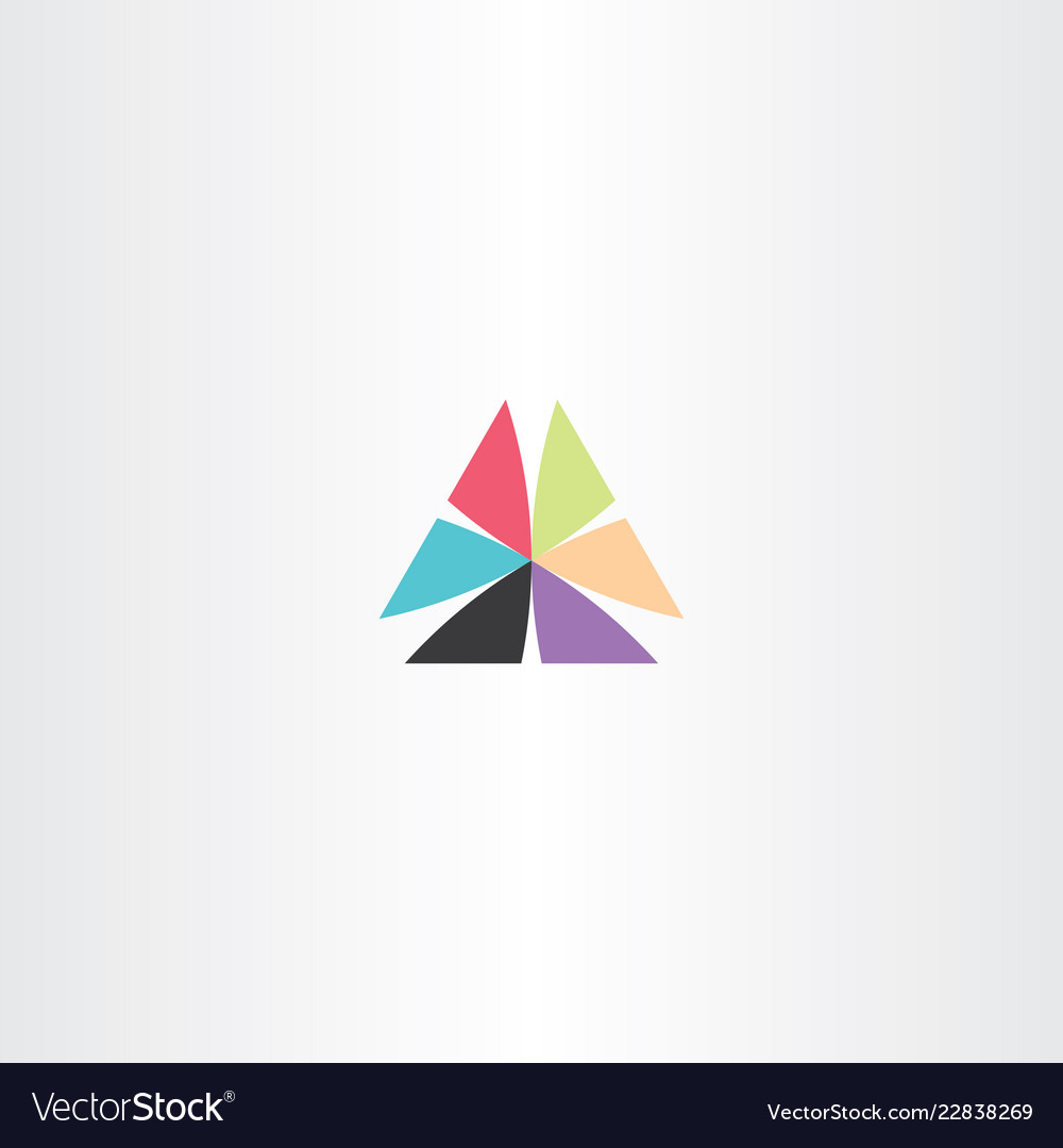 Abstract business logo triangle sign element icon