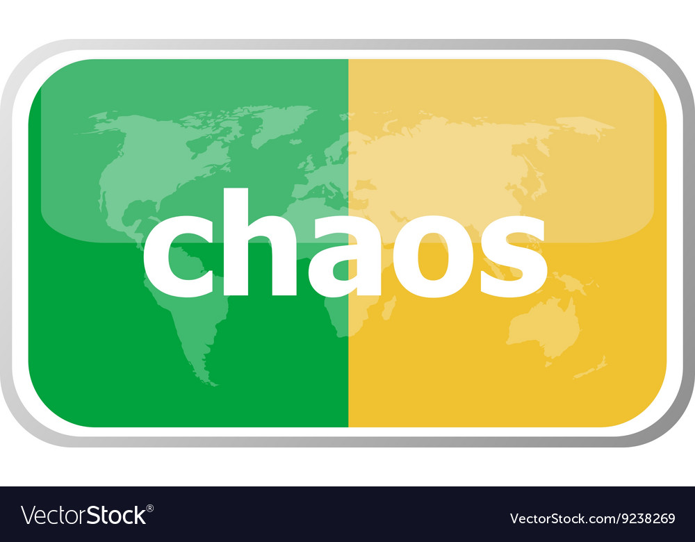 Chaos Flat web button icon World map earth icon