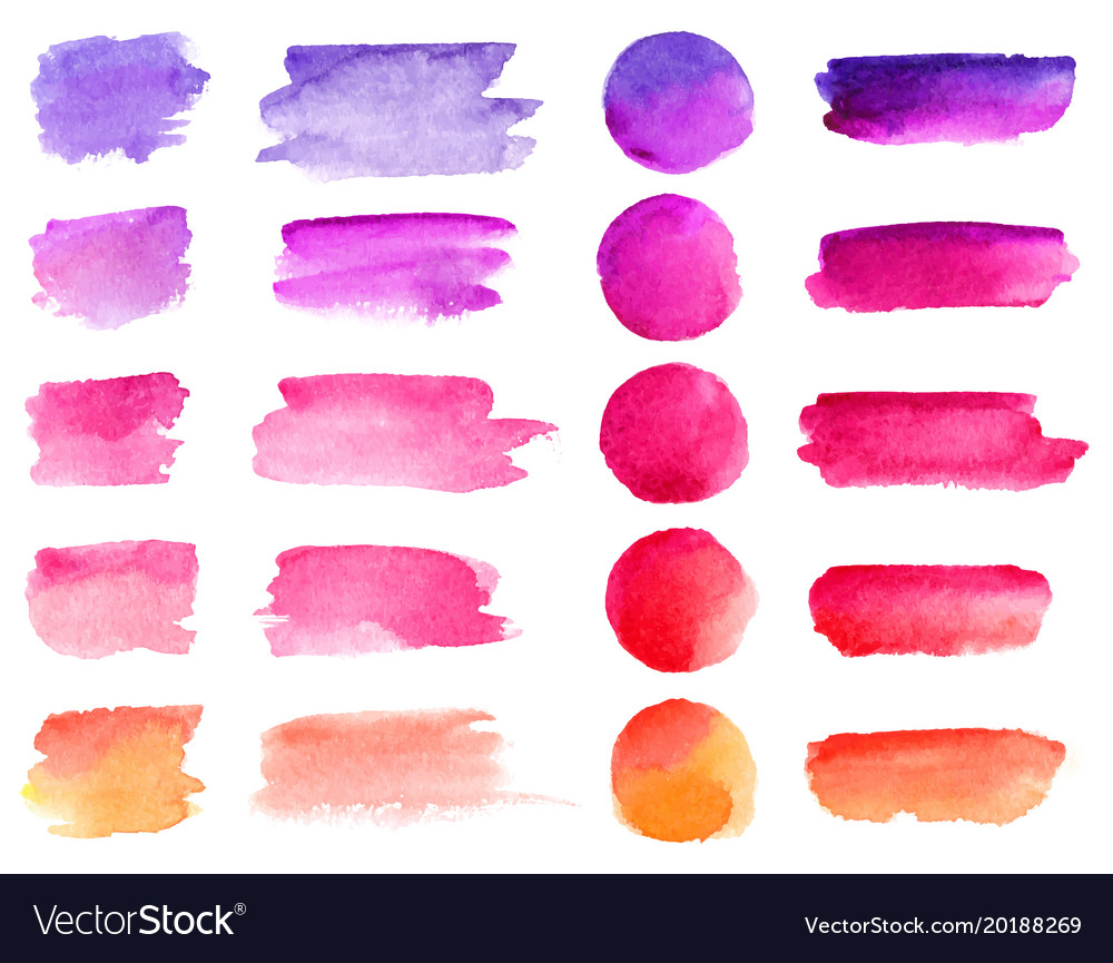 Colorful watercolor brush strokes rainbow