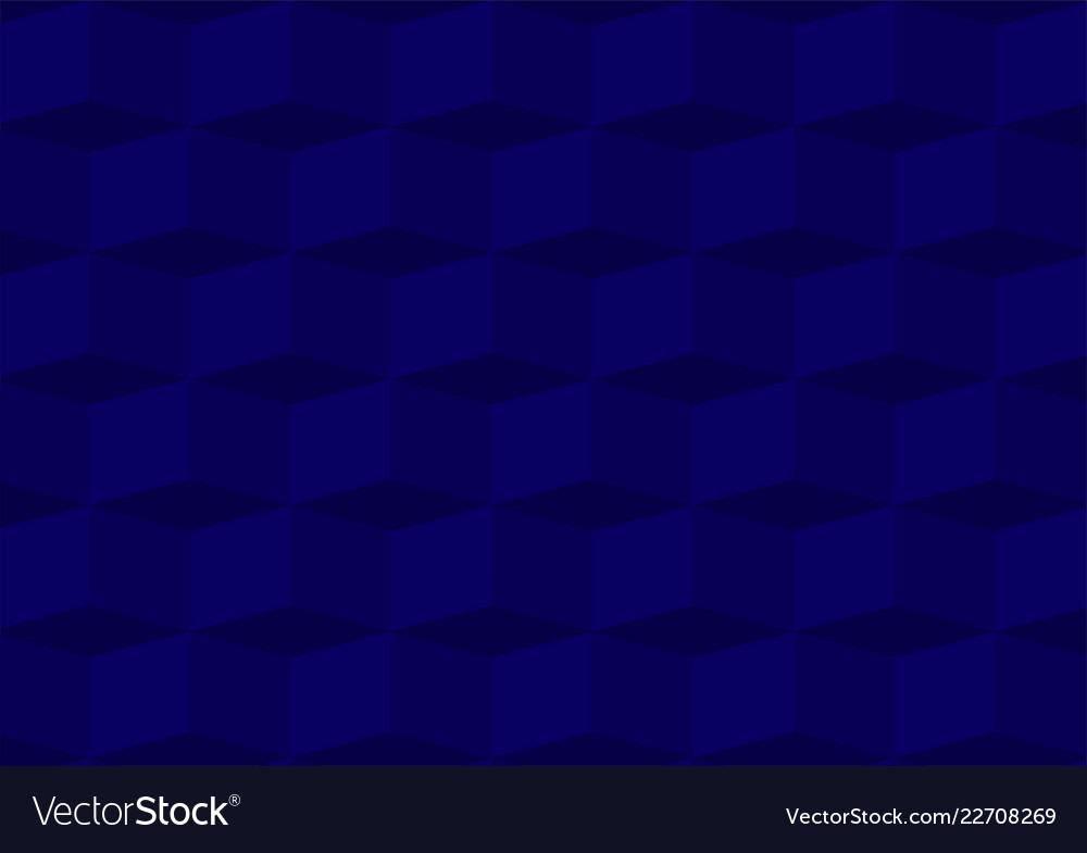 Deep blue three dimentional geometric background