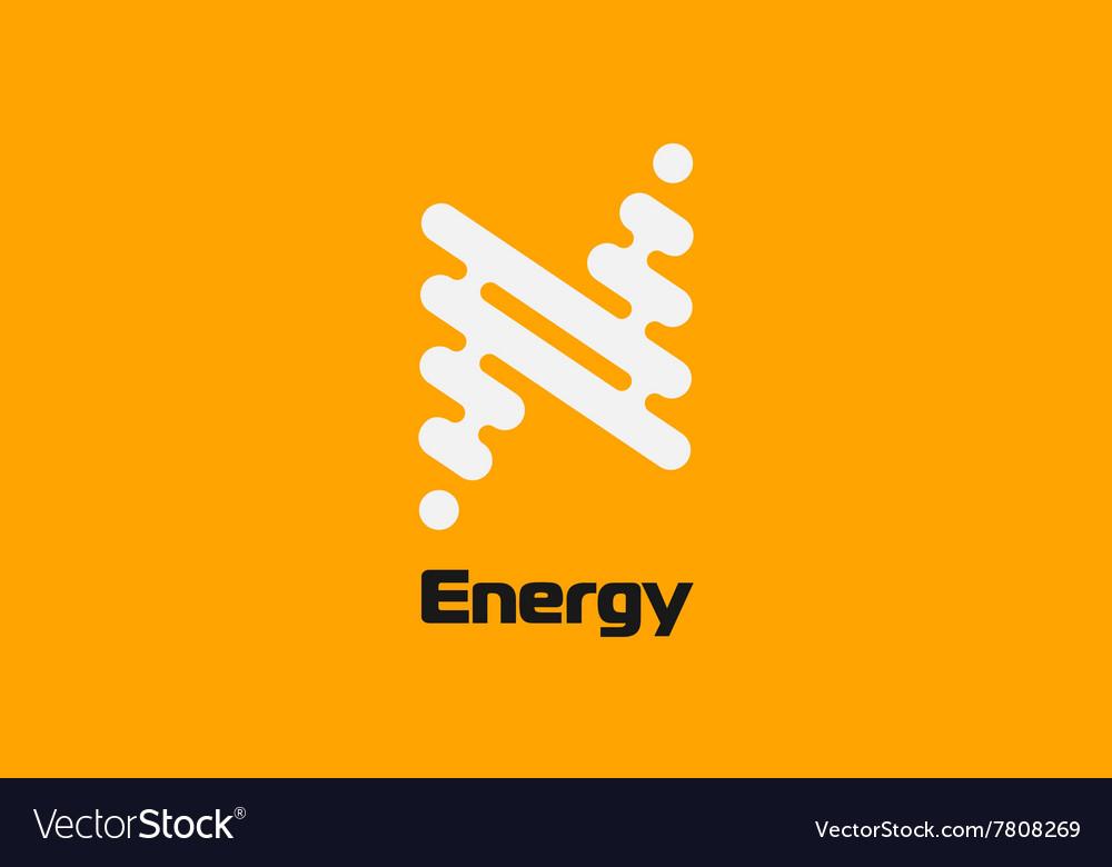 Energy logo design Flash logo Line logo concept