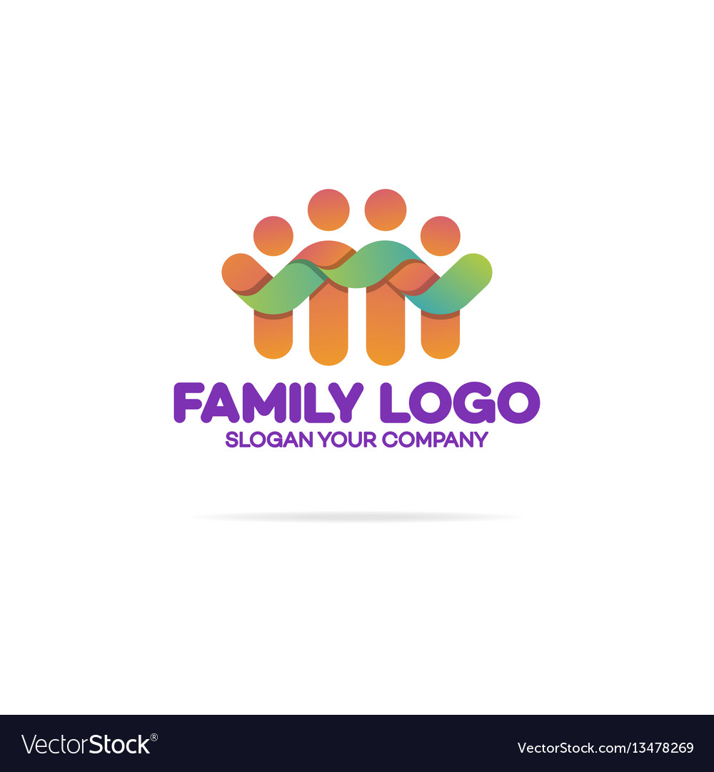 Family logo consisting of simple happy figures