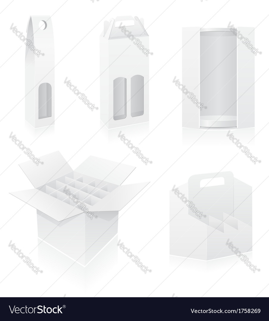 Packing box 18 vector image