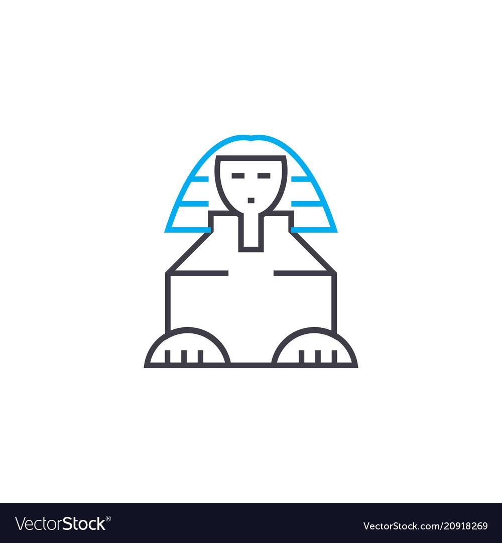 Sphinx linear icon concept sphinx line