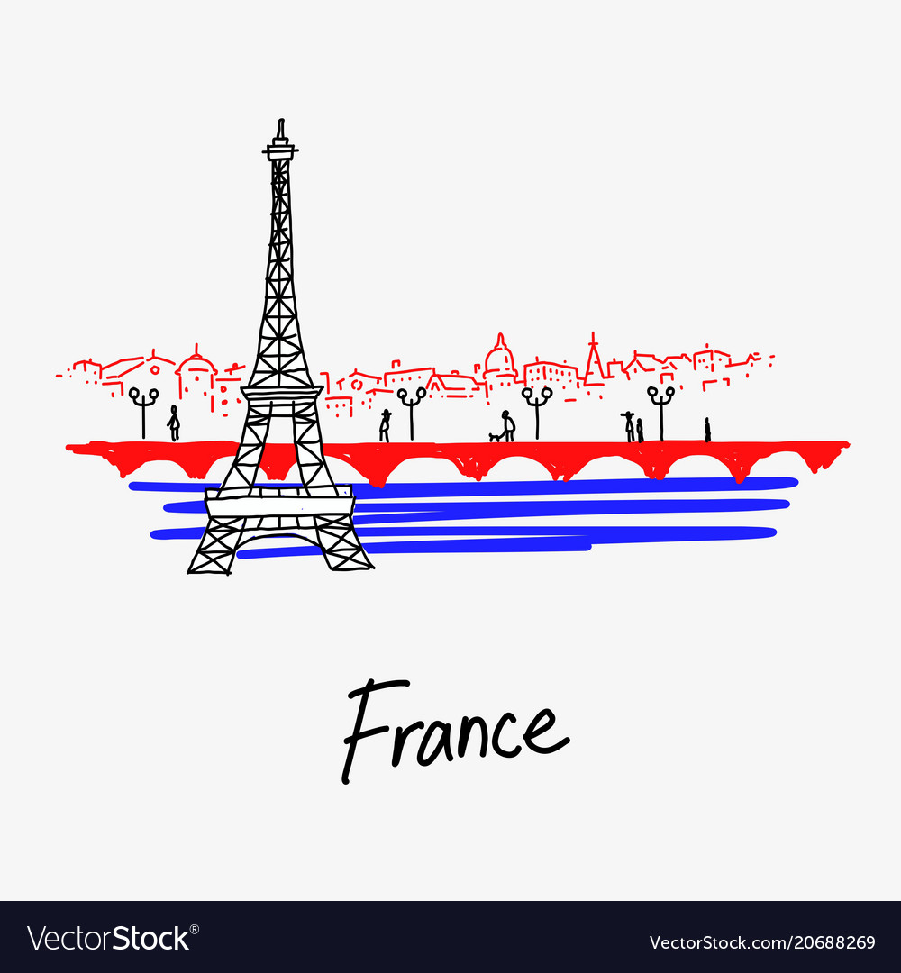 Symbol of the eiffel tower france