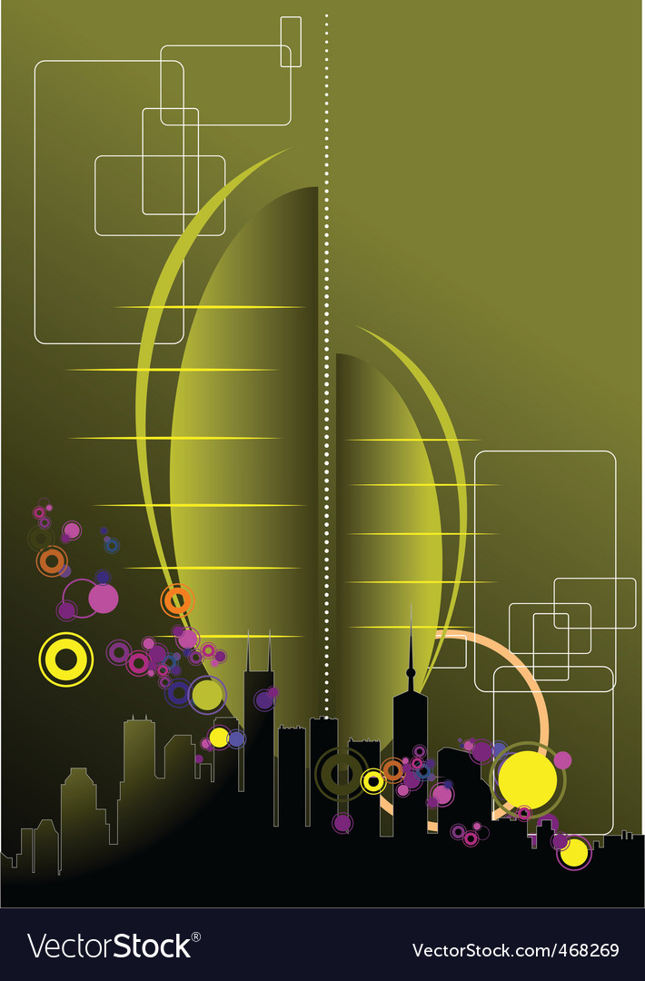 Urban abstract composition vector image