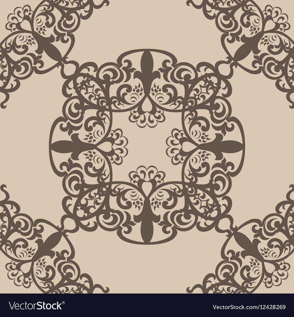 Vintage lace pattern in Eastern style