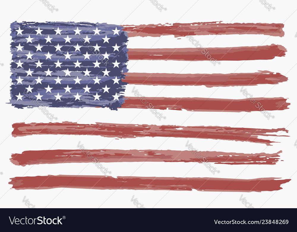 Watercolor flag of usa