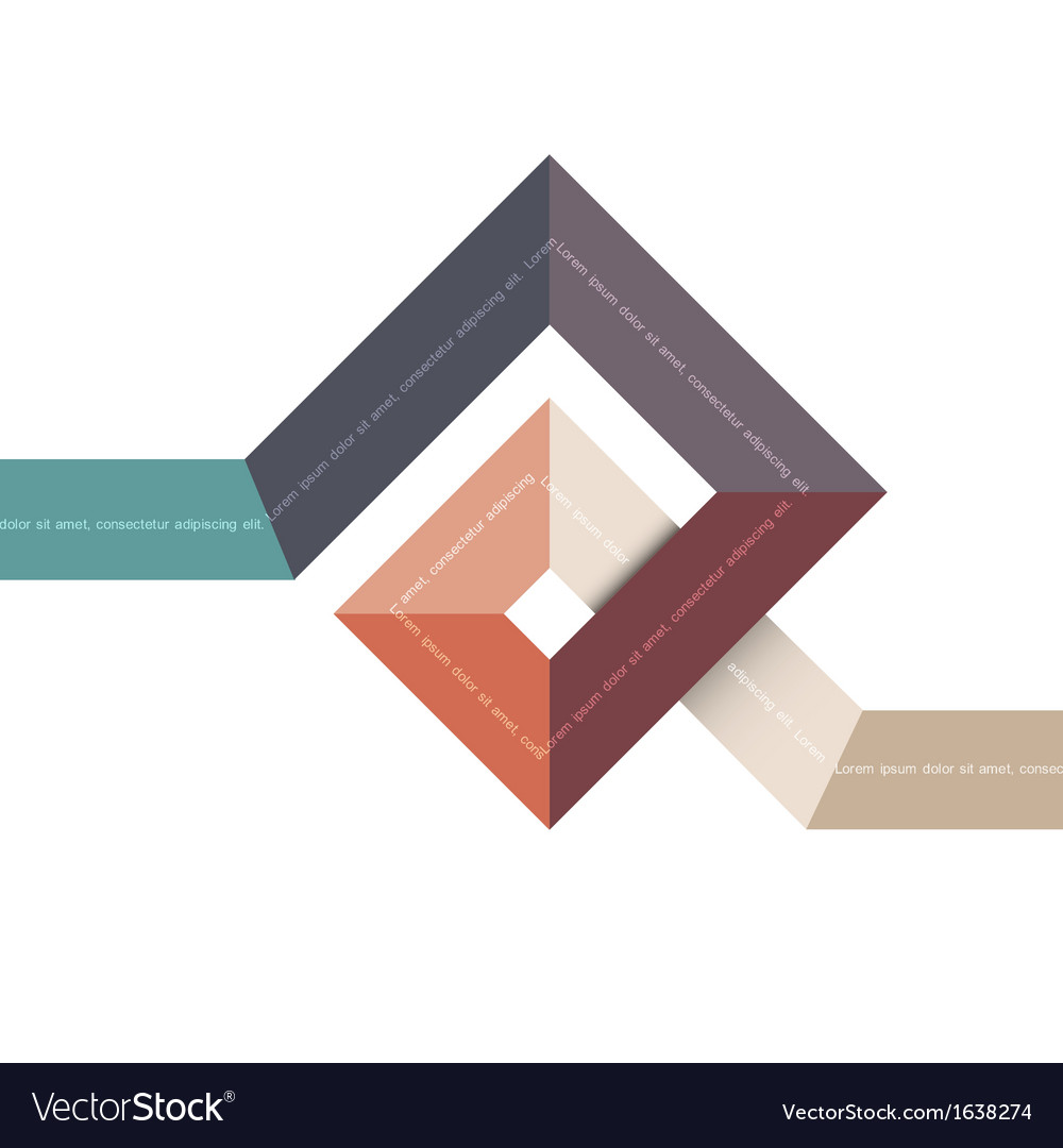 Abstract geometric shape for design vector image