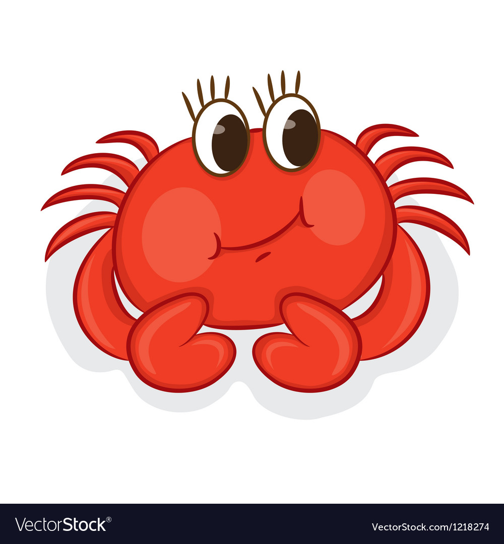 cartoon crab royalty free vector image vectorstock rh vectorstock com Cartoon Shark crab cartoon images free