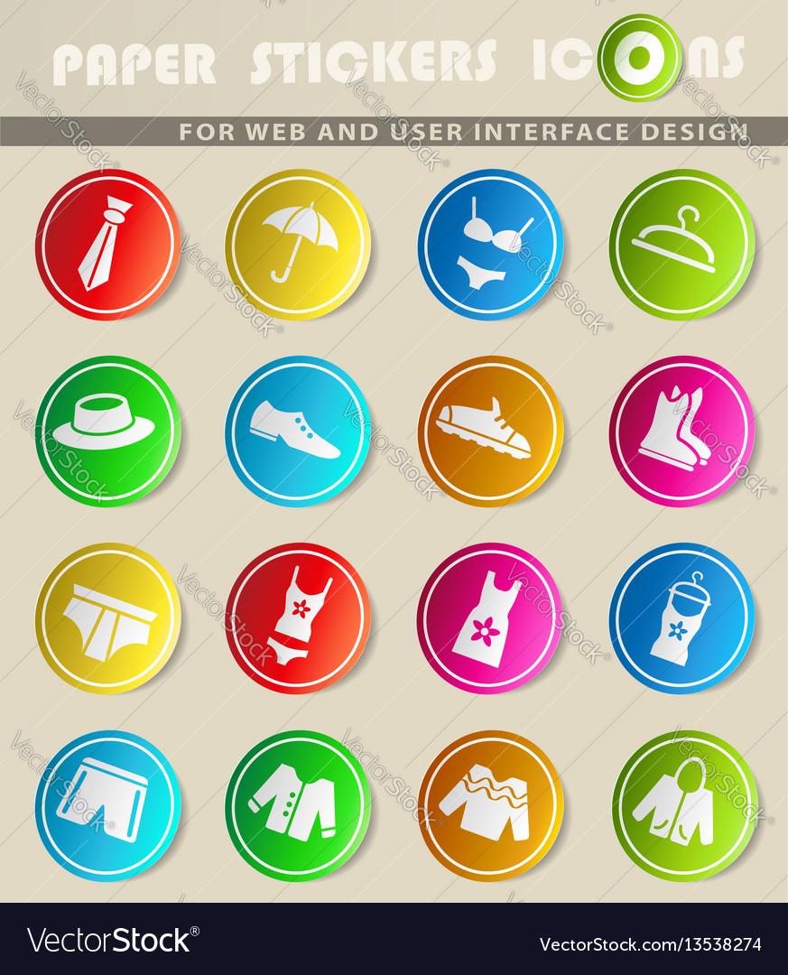 Clothes icon set