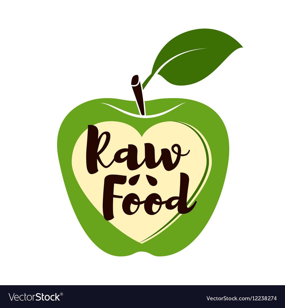 Fresh green apple organic food Fresh sweet green vector image