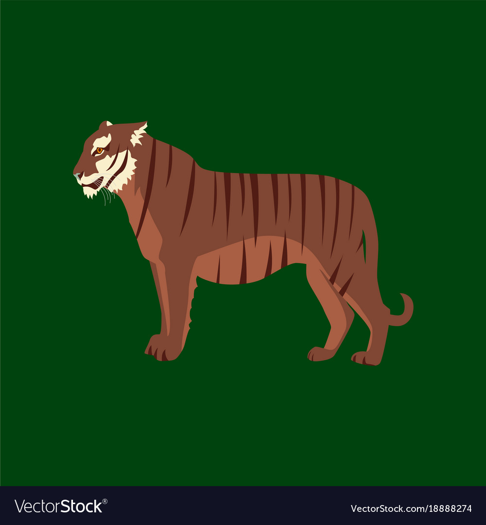 In flat style tiger