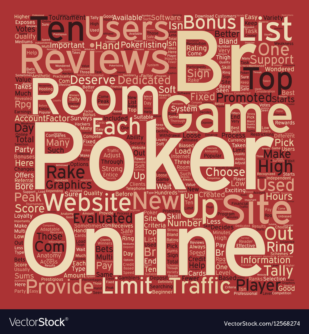 Online poker reviews 1 text background wordcloud