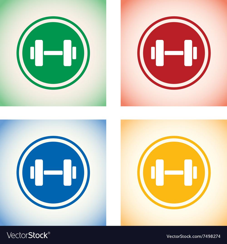 Weights logo set