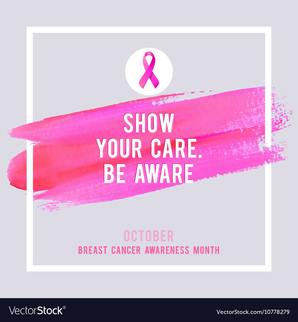 Breast Cancer Awareness Poster Creative Pink Brush