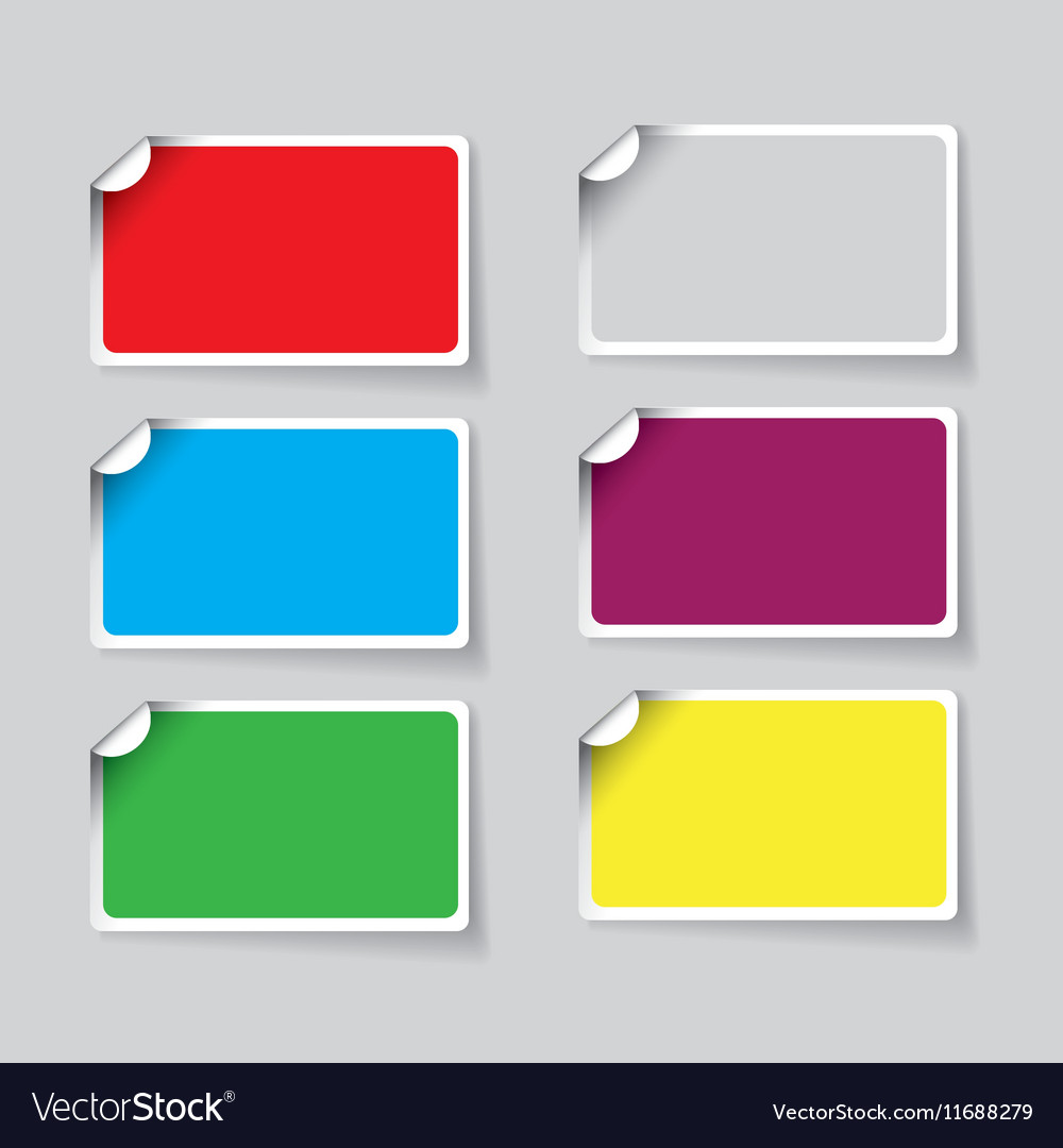 Colorful paper sticker