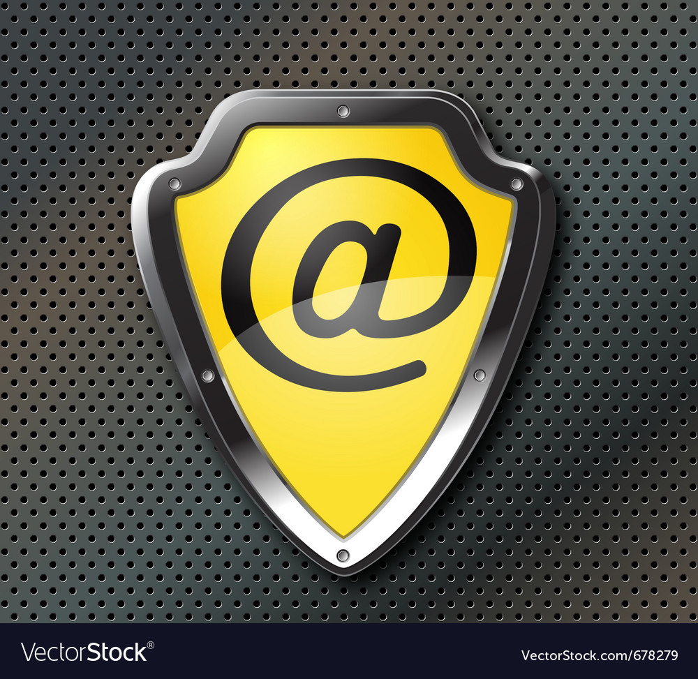 Email protection shield vector image