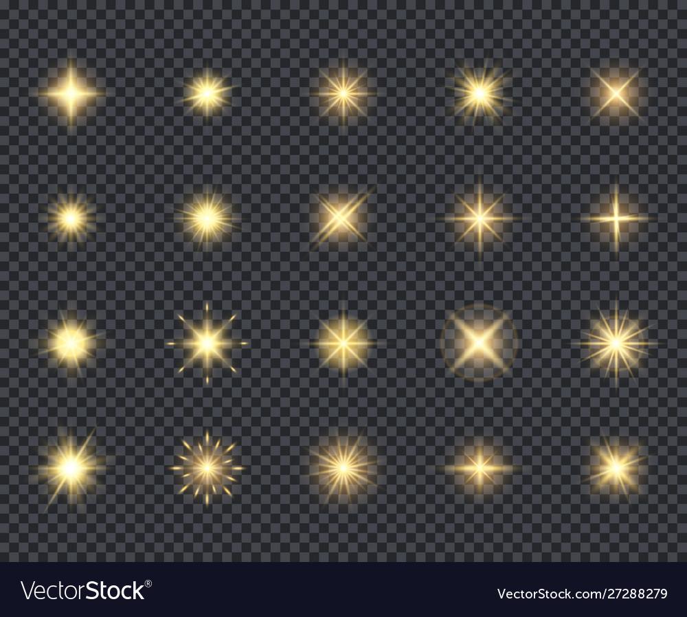 Glowing stars icon celebration effects beautiful