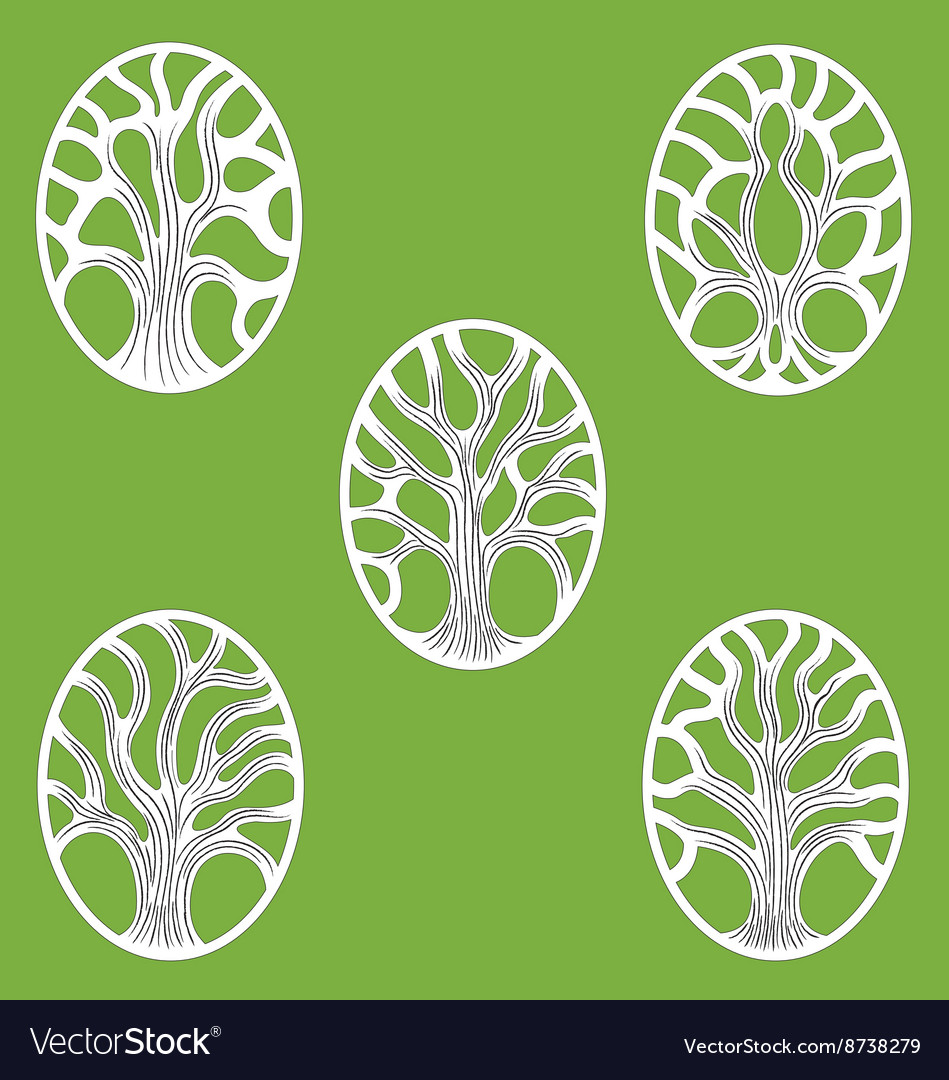 gree tree of life icon royalty free vector image