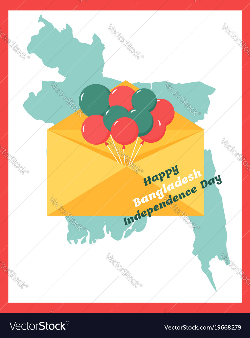 Greeting card for bangladesh independence day vector image m4hsunfo