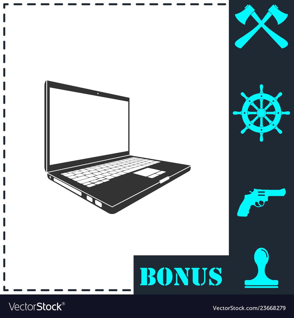 Laptop icon flat