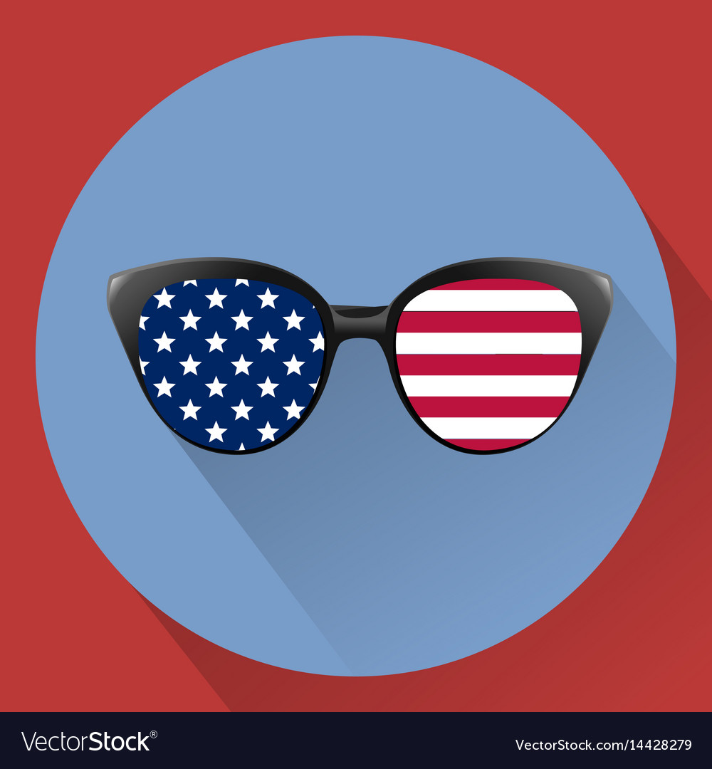 Patriotic glasses with stars and strips