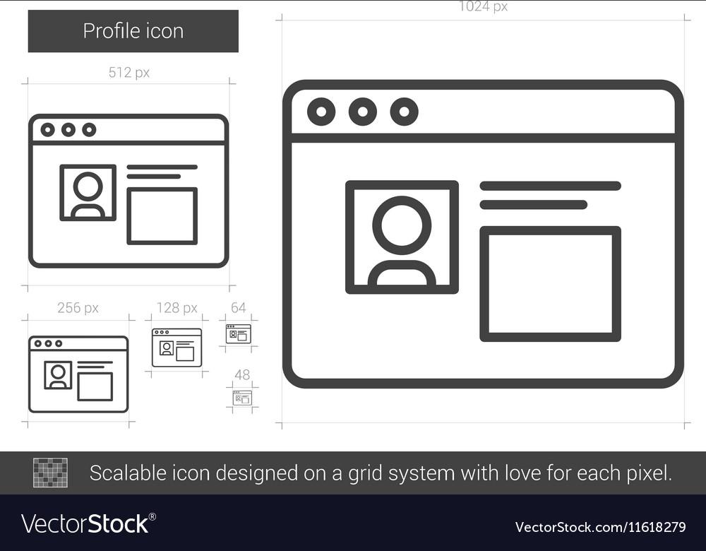 Profile line icon vector image
