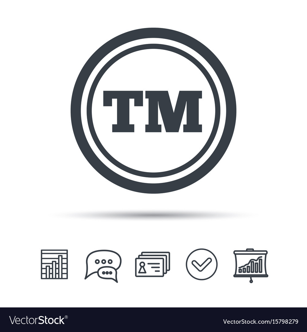 Registered tm trademark icon intellectual work