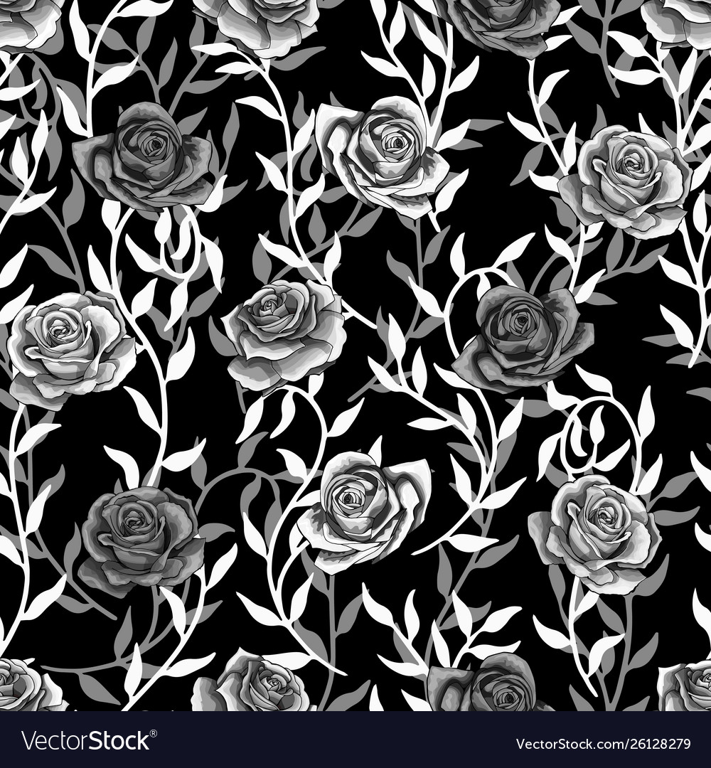 Seamless pattern with silver branches and