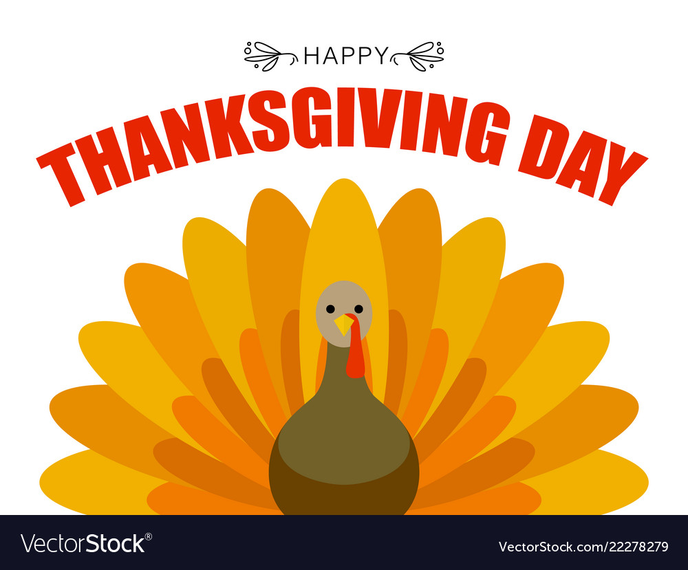 Thanksgiving day concept background flat style