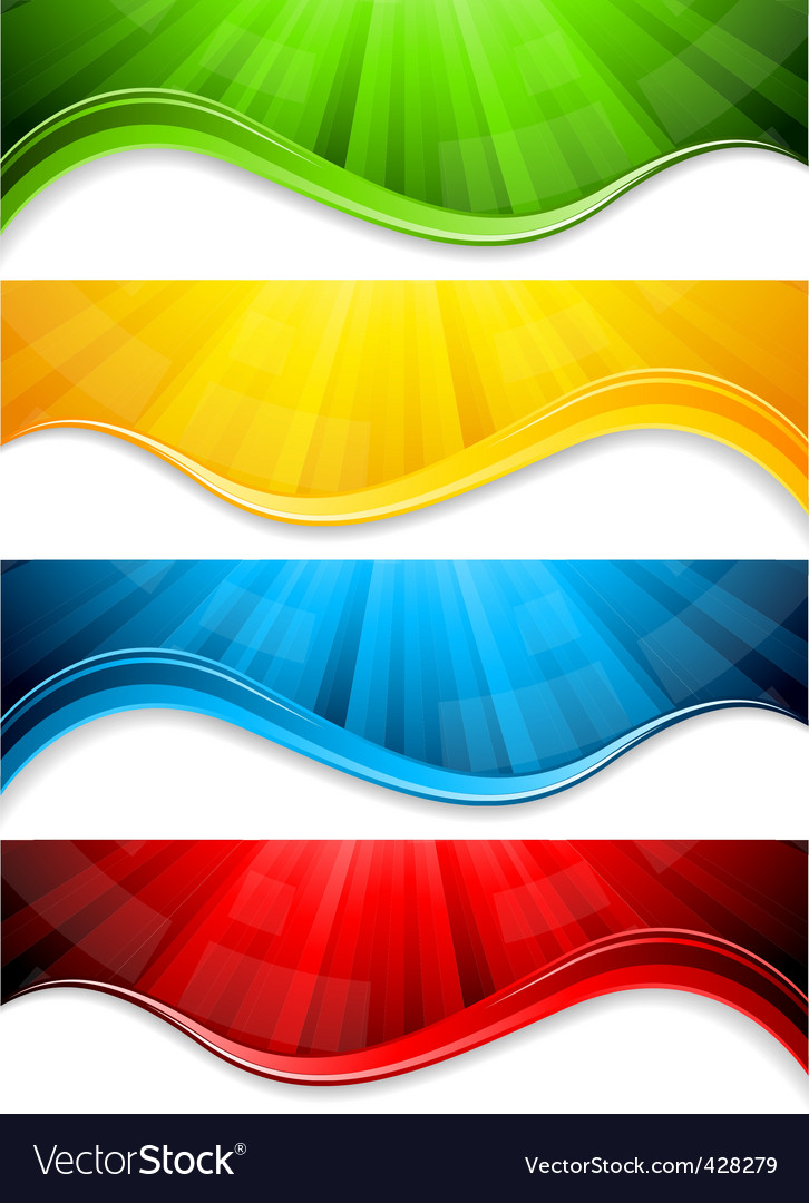 Vector collection abstract banners vector image