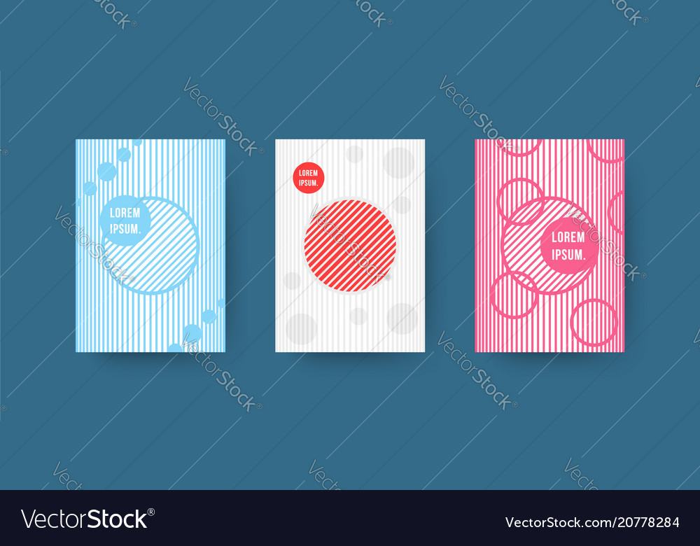Abstract geometric poster covers with halftone