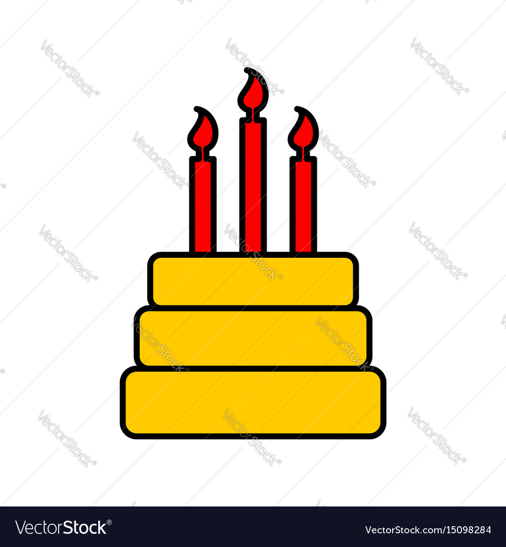 Birthday cake sign logo dessert for holiday cake vector image