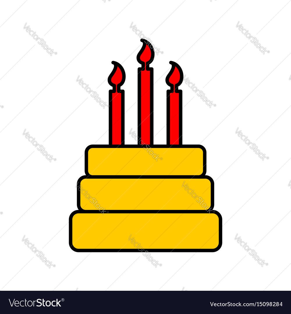Birthday cake sign logo dessert for holiday cake